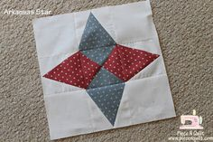 "Piece N Quilt: Star Quilt {Arkansas Star} Month 6-All blocks in this quilt should be unfinished at 12 1/2""x 12 1/2"""