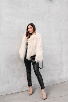 Furry jacket || @liketoknow.it http://liketk.it/2pVJP #liketkit