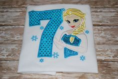 Elsa Frozen Birthday Shirt Personalized with by TwoTwoCuteDesigns, $22.00