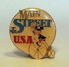 disney pins given at park | Fantasies Come True > Pins > Main Street USA pin, featuring Mickey ...