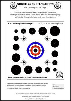 Pistol Shooting Tips, Shooting Targets, Pistol Targets, Rifle Targets, Target Practice, Vintage Air, Air Rifle, Shooting Range, Skull