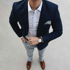 Men's Look Most popular fashion blog for Men - Men's LookBook ® The shoes really givrs the look the edge needed (my opinion)!