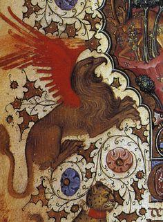Book of Hours of Giangaleazzo Visconti Medieval World, Medieval Art, Medieval Manuscript, Illuminated Manuscript, Dragons, Book Of Kells, Book Of Hours, Animal Tattoos, Animal Paintings