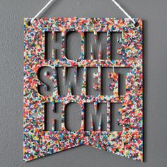 Home Sweet Home Banner - Rainbow Sprinkles