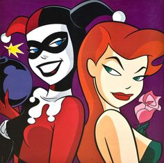 Harley Quinn & Poison Ivy lithograph from the WB Store circa 1998 https://soundcloud.com/isis36