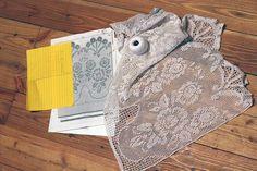 Filet crochet curtain