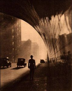 The tunnel on 2nd Street, downtown Los Angeles, 1930s. Unattributed.