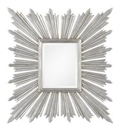 Distressed Silver Leaf Sunburst Mirror at ProjectDecor.com