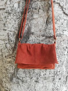 Rust red suede leather bag purse, Small messenger boho bag for women, Leather bag crossbody for everyday use, Beautiful boho gift. Leather Purses, Leather Wallet, Leather Bag, Handbags Online Shopping, Shopping Bag, Red Purses, Purses And Bags, Small Messenger Bag, Round Bag