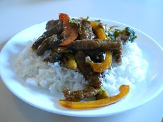 Beef and Veggie stir fry! Yummy and SO easy!