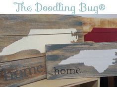Love our handmade NC home signs!! www.thedoodlingbug.com