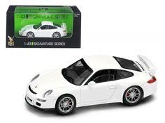 Porsche 911 997 GT3 White Signature Series 1/43 Diecast Model Car by Road Signature