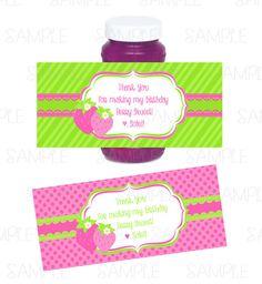 Strawberry Birhday Theme Bubble Bottle by PartyInnovations09