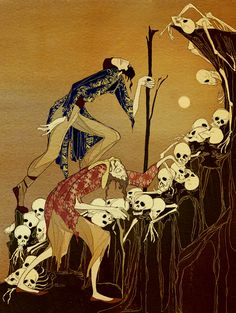 "Kate Baylay : The Silent Princess  ""But as he and his companion began to climb towards the top they paused in horror, for the ground was white with dead men's skulls."""