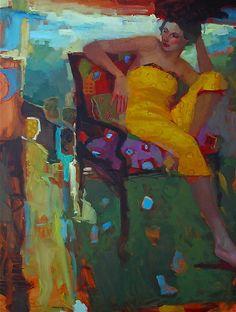 Yellow Dress by Michael Steirnagle  ~  x