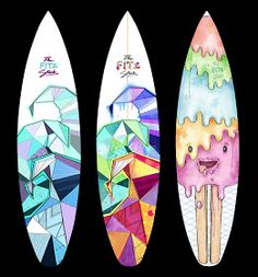 Illustration . Baking . Surfing: Red Bull Design Sally's Board Comp 2012