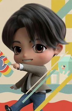 Bts Suga, Maknae Of Bts, Jungkook Cute, Foto Jungkook, Bts Chibi, Anime Chibi, Jung Kook, Marvel Paintings, Bts Drawings