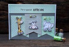 4-Season Challenge #8: Geboortekaartje. | Scrapspul van Colien | Bloglovin' Kids Cards, Baby Cards, Giraffe, Elephant, Marianne Design, Scrapbooking, Baby Gifts, Challenges, Van