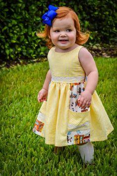 June Dress – Violette Field Threads Little Girl Dresses, Little Girls, Girls Dresses, Summer Dresses, Gathered Skirt, Sewing Hacks, Bodice, June, Dressing