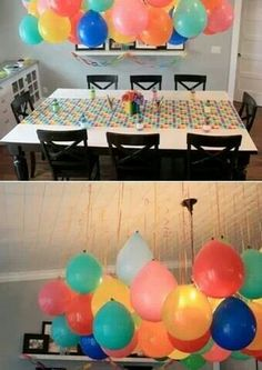Upside down balloons