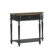 Check out the Hammary 090-350 Hidden Treasures Console Table in Black/Brown  priced at $315.00 at Homeclick.com.