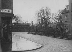 De Albatrosstraat nog voor de viaductaanleg. Vermoedelijk jaren 30 of 40