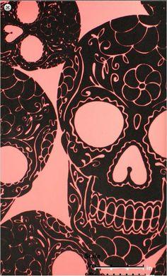 Pink skull 02g 319243 girly skulls and bones wallpapers just like the bathroom at cyclone anayas pink and black sugar skull wallpaper skulltown velvet flock wallpaper comes in pink and black and black voltagebd Image collections