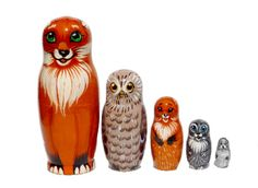 Animals Nesting dolls for kids 5 dolls Matryoshka