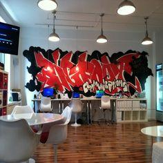 Home office graffiti art!