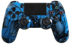 PlayStation 4 Dualshock 4 - Custom PS4 Controller with Blue Nightmare Shell