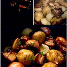炭火が足りなくて断念しかけたけど、いい火になったので焼き入れ ポテトはホクホク、玉ねぎとろける、香ばしい豚バラがジューシーで美味しかったです 香草で味付け、お好みでカシスマスタードでいただきました - 64件のもぐもぐ - Lyon-style pork豚肉のリヨン風 by chef hubby by Ami