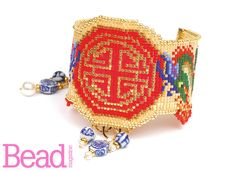 Prosperity Dragon Cuff. Stunning loomed beadwork, as seen in Issue 36 of Bead. Designed by Erin Simonetti.