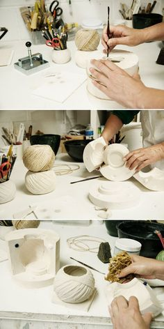 Making a plaster mold