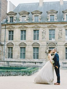 Paris romance, bride and groom, chateau // Pinned by Dauphine Magazine, curated by Castlefield (wedding invitation, branding, pattern designs: www.castlefield.co). International Couture Fashion/Luxury Wedding Crossover Magazine - Issue 2 now on newsstands! www.dauphinemagazine.com. Instagram: @ dauphinemagazine / @ castlefieldco. Dauphine and Castlefield only claim credit for own images.