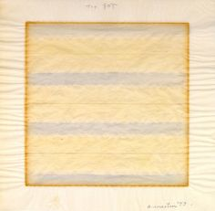 """Agnes Martin American (1912-2004) Untitled, 1977 Watercolor and pencil on paper 9 x 9"""" Bequest of Martha W. Smith"""