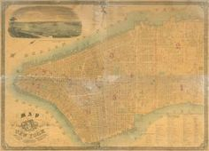Map of the City of New York. (1849-1850) #manhattan #nyc #map