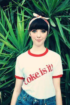 1980s Vintage TShirt / Coke Coca Cola UNISEX Ringer T