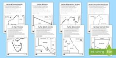 A fantastic pack that includes mapping worksheets for each Australian State and Territory to support your children's learning of the Year 3 AC Geography Australian States and Territories topic Map Activities, Learning Activities, Me On A Map, Social Studies, Geography, Australia, History, Ideas, Hate