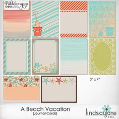 A Beach Vacation Journal Cards