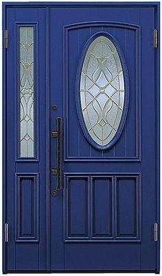 アイエム木製玄関ドア YU-1043 親子ドア 日本製