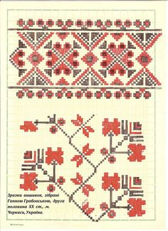 Ukrainian traditional pattern from Cherkasy region Folk Embroidery, Learn Embroidery, Embroidery Patterns, Pattern Books, Pattern Paper, Ukraine, Bargello, Cutwork, Textile Design