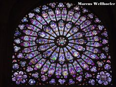 Notre Dame Cathedral in Paris. I spent many hours here sketching architecture and observing gorgeous glass windows. Stained Glass Rose, Stained Glass Windows, Wine Bottle Wall, Glass Cactus, Rose Window, Ferrat, Glass Marbles, Glass Wall Art, Ramen