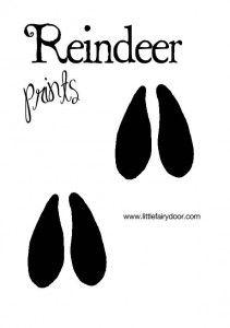 Little Fairy Door Templates - Reindeer Footprints - Aussie Bubs