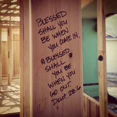 Bible verse for home entry. & You could put a different bible verse on each door of the house ...