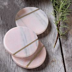 Add contemporary elegance to your table with our pink marble coaster. Marble Nails, Pink Marble, Marble Coasters, Other Accessories, Brass, Contemporary, Graham, Decor, Living Rooms
