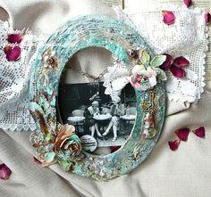 My Scrap Dessert: New life for the old photoframe. Новая жизнь для старой рамочки.