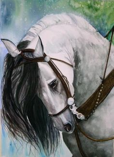 Horse painting by Gina Hall