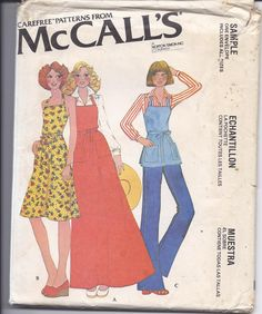 935247f3b2a28 Vintage sewing pattern for back wrap apron in hip
