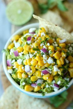 Sweet Corn Grilled Guacamole for your Cinco de Mayo festivities