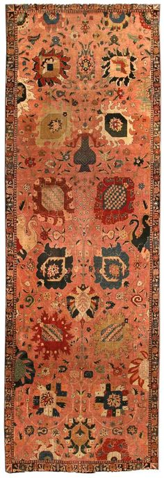 A late 19th century Persian Tabriz antique carpet, the dusty rose field with a…